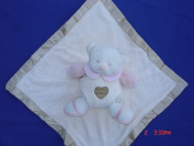 Ellis Baby Blankie Buddies Super Soft 2-in-1 Security Blanket Banky 45.7cm x45.7cm Beige Blankie Lovie w/ 17.8cm Tall Baby Pink Teddy Bear Rattle Toy