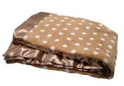 Pickles Bubbles Polka Dot Baby Blanket, Brown