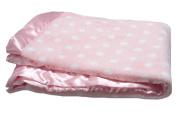 Pickles Bubbles Polka Dot Baby Blanket, Pink