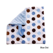 BB Emerald Blue Dot Soft Pacifier Baby Blanket