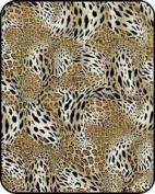 Regal Comfort Leopard Print Acrylic Mink Crib Baby Blanket