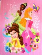 "Princess ""Dream Big"" Royal Plush Baby Blanket 101.6cm x127cm"