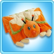 Genuine Ultra Soft My Pillow Pet ORANGE BUTTERFLY BLANKET