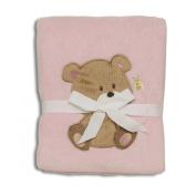 Baby Starters Blankets, Pink Bear