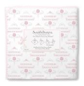SwaddleDesigns Little Princess Ultimate Receiving Blanket, Pastel Pink