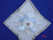 Ellis Baby Blankie Buddies Super Soft 2-in-1 Security Blanket Banky 45.7cm x45.7cm Beige Blankie Lovie w/ 17.8cm Tall Baby Blue Teddy Bear Rattle Toy