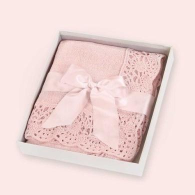 Bearington Baby Bethany Estate Pink Vintage Blanket