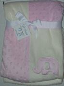 Kyle & Deena Patchwork Blanket, Elephant Pink/White 76.2cm X 76.2cm