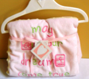 Messages From the Heart Pink Baby Blanket