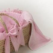 Pink Gingham Receiving Blanket