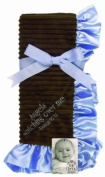 Sue Berk Designs Plush Soft Blanket with the Scripture, Blue Angels Watch Over Me