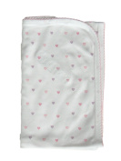 Noa Lily Blanket, Pink Hearts