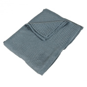 Saro Lifestyle BK170 Blue 76.2cm by 101.6cm Baby Blankets, Oblong