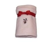 Fleece Reindeer Baby Blanket