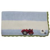 Powell Craft Hand Knitted Farm Yard Pram Blanket Baby Blanket