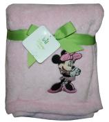 "Disney Minnie Mouse Baby Fleece Blanket 101.6cm X 76.2cm ""Minnie"" Pink"