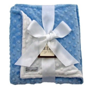 Meg Original Baby Blue & Snow White Minky Blanket