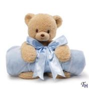 Gund Baby Blanket Set, Teddi Bear & Blue