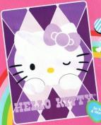 Sanrio Hello Kitty Blanket Twin Size 152.4cm X 203.2cm Mink Raschel Plush Throw
