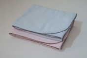 Pink and Chocolate Trimmed Cotton Receiving Blanket