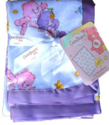 Care Bears baby cosy plush blanket with satin trim NEW