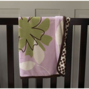 Pink Bloom Icon and Pattern Blanket