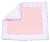 Cosy Faux Pink and White Baby Blanket