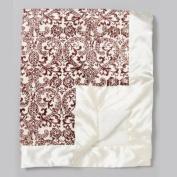My Blankee Pineapple-Cream Satin Baby Blanket 76.2cm X 86.4cm .