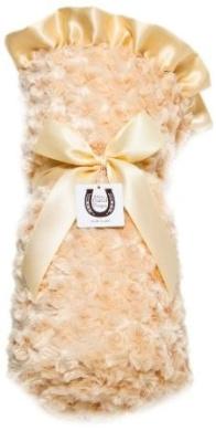 Max Daniel Designs Satin Adult Throw Blanket, Butter Rosebuds