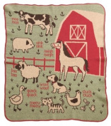 Green 3 Throw Blanket, 7A Farm