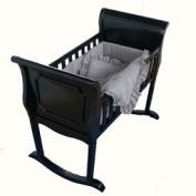 Black Gingham Cradle Bedding - Size 15x33