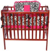 Baby Doll Zebra Minky Cradle Bedding Set, Pink