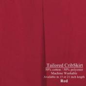 Crib Dust Ruffle Tailored Cribskirt 38.1cm long Colour