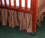 Gathered Crib Dust Ruffle 38.1cm Colour