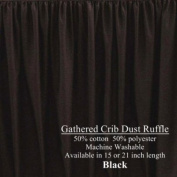 Long Cribskirt Gathered Dust Ruffle for Crib 53.3cm long Colour