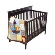 Tiddliwinks Noah's Ark 3pc Crib Bedding Set with Modern Zebra Pattern