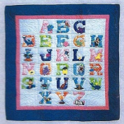 Hawaiian Baby Quilt or Wall Hanging ABC Pastel Colours