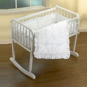 Baby Doll Bedding Simplicity Port-a-Crib Set, White