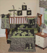 Custom Baby Boy Boutique - Animal Planet Lime 15 Pc Baby Bedding Nursery Crib Set