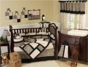 Animal print Safari Jungle Baby Boy or Girl Unisex Neutral Bedding 9pc Crib Set