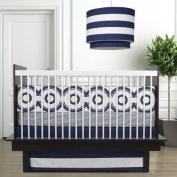 Oilo Wheels Standard Crib Set, Cobalt Blue
