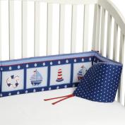 Bedtime Originals by Lambs & Ivy - Sail Away Crib Bumper, Blue