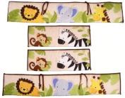 Bedtime Originals by Lambs & Ivy - Jungle Buddies Crib Bedding Bumper, Brown