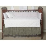 Green Dark With Cream Plaid Fabric Dust Ruffle Crib