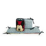 Disney Baby Crib Bumper Primary Colour Neutral Nursery Bedding Donald Mickey Mouse Goofy Pluto