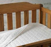 Organic Cotton Crib Mattress Pad in White