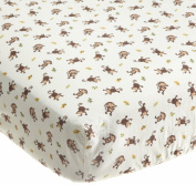 Kids Line Jungle 123 Fitted Sheet, Brown