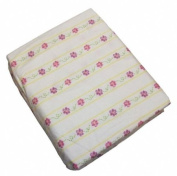 Butterfly Kisses Girls Baby Crib Sheet by Bean Sprout