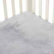 Go Mama Go Designs Grey Minky Crib Sheet, Grey/Yellow