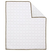 Bacati - Quilted Circles White/Chocolate Quilt